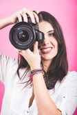 Female Photographer Portrait — Stock Photo