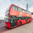 Stock Photo: Double-Decker on London Bridge