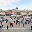 Stock Photo: LONDON, UNITED KINGDOM - OCTOBER 30, 2013: Crowded Trafalgar Squ