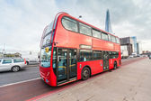 Double-Decker on London Bridge — Stock Photo