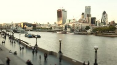 Panoramic View of London City — Stock Video