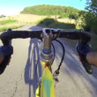 Climbing Road with Bicylcle — Stock Video