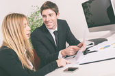 Young Business Team Working at Office — Stock Photo