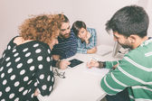 Group of Friends Studying — Stock Photo
