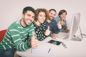 Happy Group of Friends Studying — Stock Photo