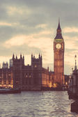 Big Ben and House of Parliament in London at Sunset — Stock Photo