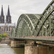 Cologne Cathedral and hohenzollern Bridge — Stock Photo #46479141