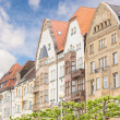 Houses in Dusseldorf Altstadt, the Old Town City Center — Stock Photo #46479979