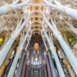 BARCELONA, SPAIN - FEBRUARY 27: Sagrada Familia, interior view — Stock Photo #46511943