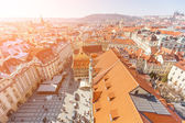 Panoramic View of Prague from Town Hall Tower — Stock Photo