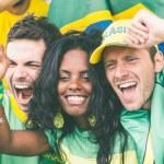 Brazilian Supporters at Stadium — Stock Photo