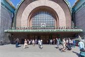 HELSINKI, FINLAND - JUNE 28, 2013: People at train station — Stock Photo
