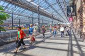 Helsinki, finlandia - 28 czerwca 2013: zatłoczone platformy — Zdjęcie stockowe