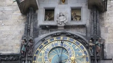 Astronomical Clock in Prague — Stock Video