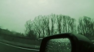 Driving in the Rain — Stockvideo