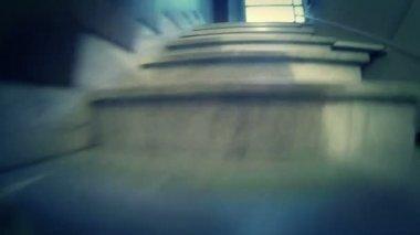 Climbing Stairs — Stock Video