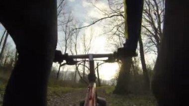 Riding Mountain Bike — Stock Video