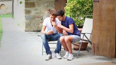 Teenage Friends Outside — Stock Video