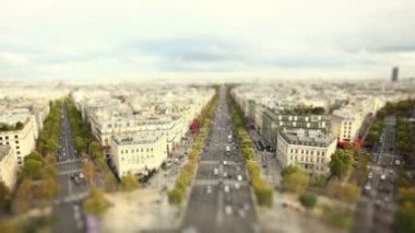 Paris från triumfbågen — Stockvideo