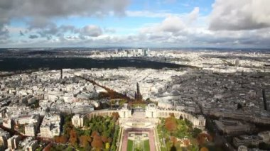 Paris from Eiffel Tower — Stock Video