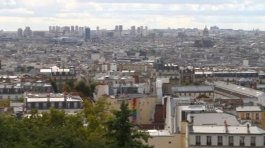 Paris from Montmartre — Stock Video