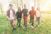 Teenagers Walking in Park — Stock Photo