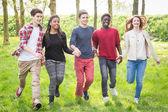Teenagers having fun in Park — Stock Photo