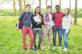 Teenage Students in Park — Stock Photo
