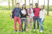Genç öğrenci park — Stok fotoğraf