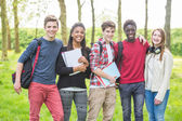 Students in Park — Stock Photo