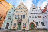 Brothers Houses in Riga — Stock Photo