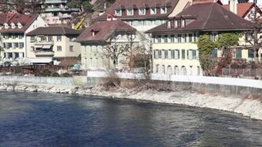 Aare River in Bern — Stock Video