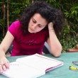 Young Woman Studying at Park — Stock Video #47408659
