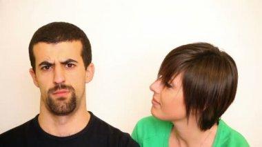 Woman Flirting with Man — Stock Video