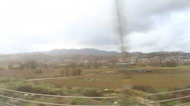 Through train window — Vídeo de Stock