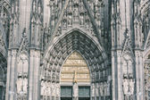 Cologne cathedral facade — Stock Photo