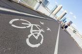 自行车专用车道 — 图库照片