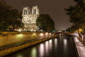 Notre Dame Cathedral by Night — Stock Photo
