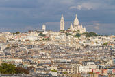Panoramic View of Paris from Arc de Triomphe — Stock Photo