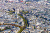 Panoramic View from the Tour Eiffel in Paris — Stock Photo