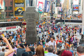 Times Square crowded of tourist — Stock Photo