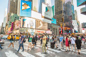 Times Square crowded of tourist — Photo