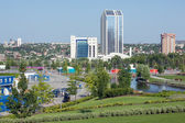 View on Donetsk city. Ukraine. — Stock Photo