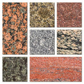 Granite samples collection — Stock Photo