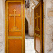 Stock Photo: Cross on the Door