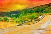 Sunset in Spain — Stock Photo