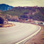 Horská silnice — Stock fotografie
