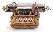 Steampunk Typewriter. — Foto de Stock
