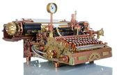 Steampunk Typewriter. — Stock Photo