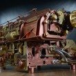 The steampunk mechanism. — 图库照片